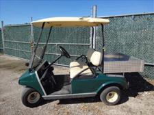 green used 2 passenger cart