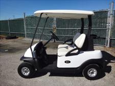 white 2 passenger cart used
