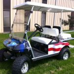 Patriot painted custom cart: side view