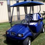 custom blue with roof side view