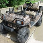 Club Car DS Camo painted 3/4 view