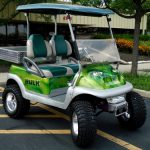 Incredible Hulk theme painted golf car