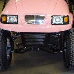 Hot pink lifted conversion front view