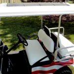 Solar Powered Cart with Patriotic paint Job closeup of seats
