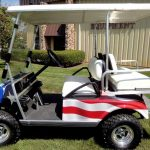 Solar Powered Cart with Patriotic paint Job
