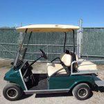Used green 4 passenger cart