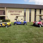 Multiple Custom Carts outside building