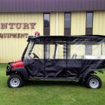 Ambulance cart, fully enclosed with lay down bed