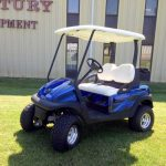 custom blue cart with roof