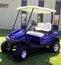 custom blue cart