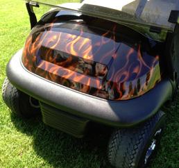 custom flame paint cart