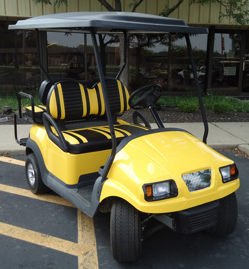 yellow custom four passenger unit