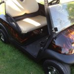 Red Custom Cart with white seats