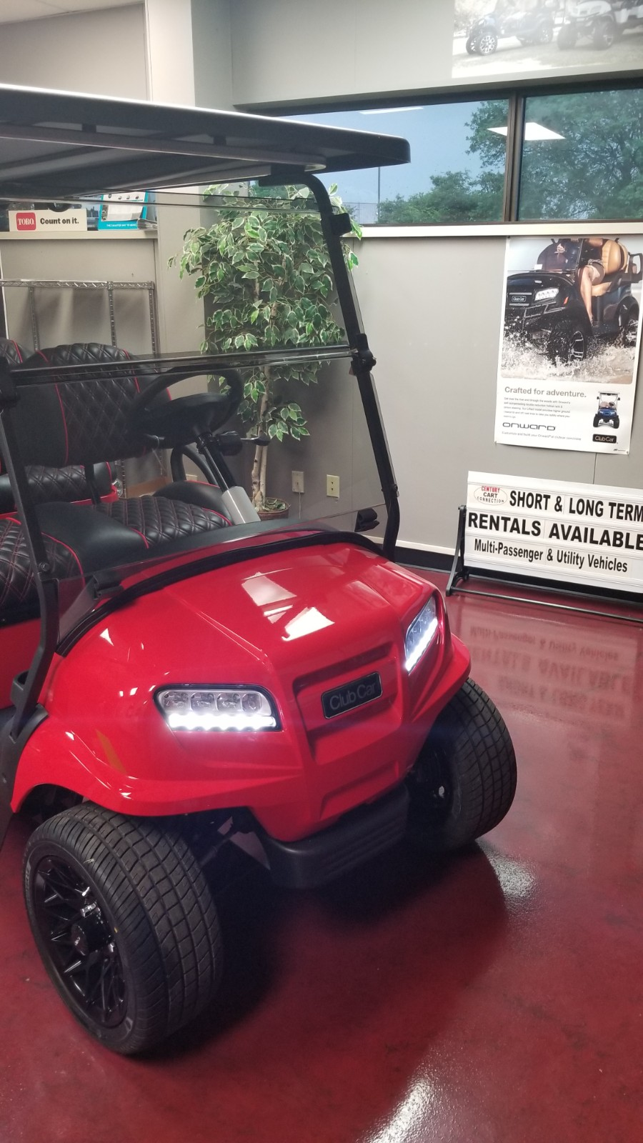 Featured Image for 2021 Club Car Onward 4 Passenger Electric HP – Blazing Comeback Limited Edition