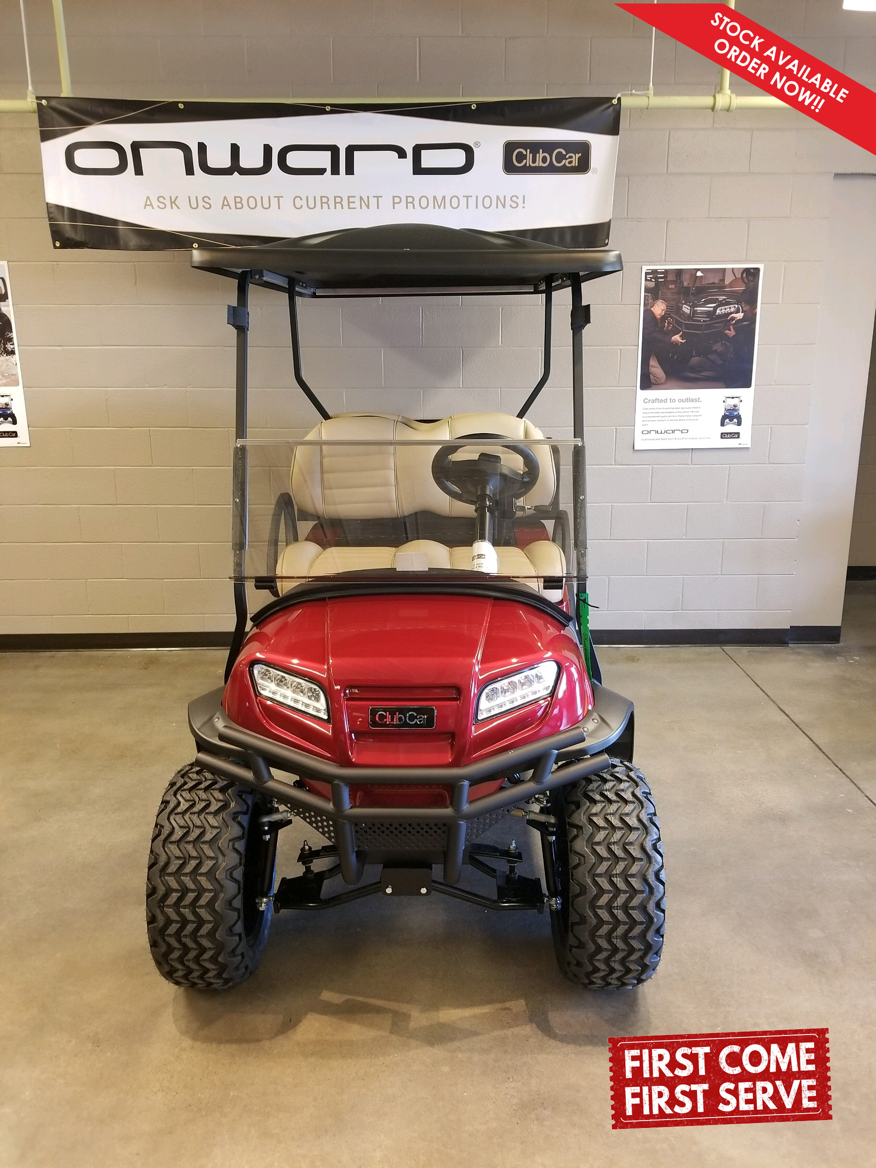 Featured Image for 2021 Club Car Onward Lifted 4 Passenger HP Electric Lithium Ion